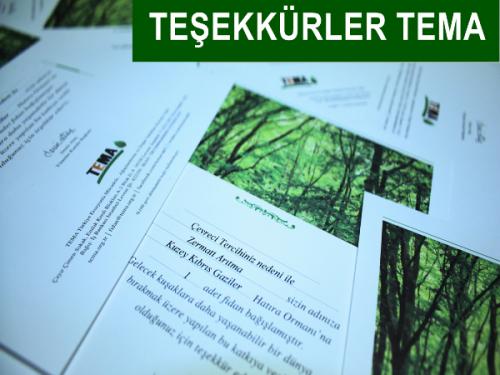Zermatt Arıtma kullanıcıları adına ağaçlar diken TEMA' ya sonsuz teşekkürler.